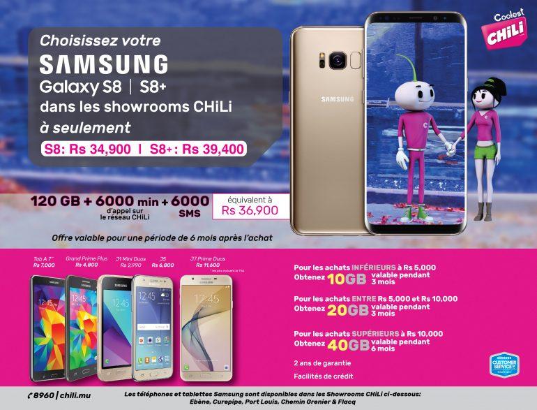 Samsung S8 | S8+ disponibles dans nos showrooms CHiLi