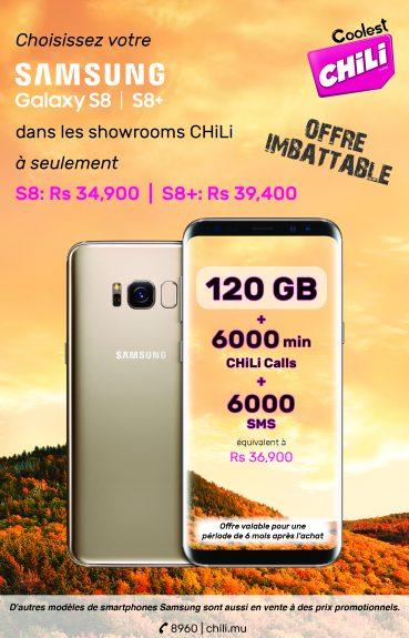 Samsung S8 et S8+ disponibles dans nos showrooms CHiLi