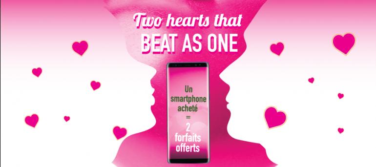 Un smartphone acheté = Deux forfaits offerts