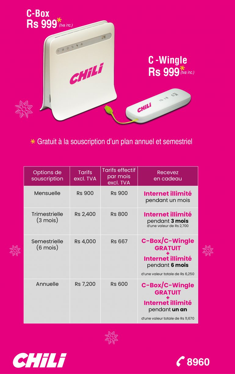 C-BOX | Nos forfaits internet