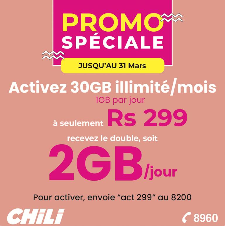 Promo Spéciale | Forfait 30GB par mois