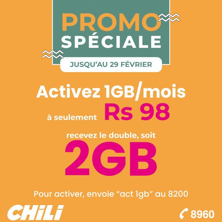 Promo Spéciale | Forfait 1GB par mois