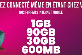 Nos forfaits internet mobile