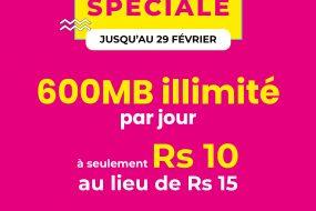 Promo spéciale | Forfait 600MB illimité