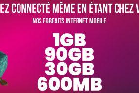 Nos forfaits internet mobile